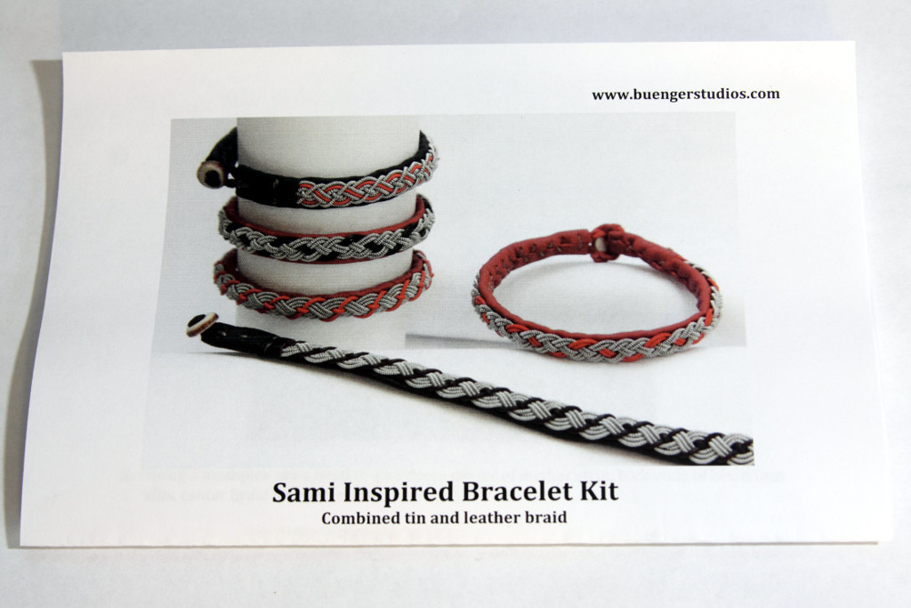 instructions for tin and leather sami bracelet kit