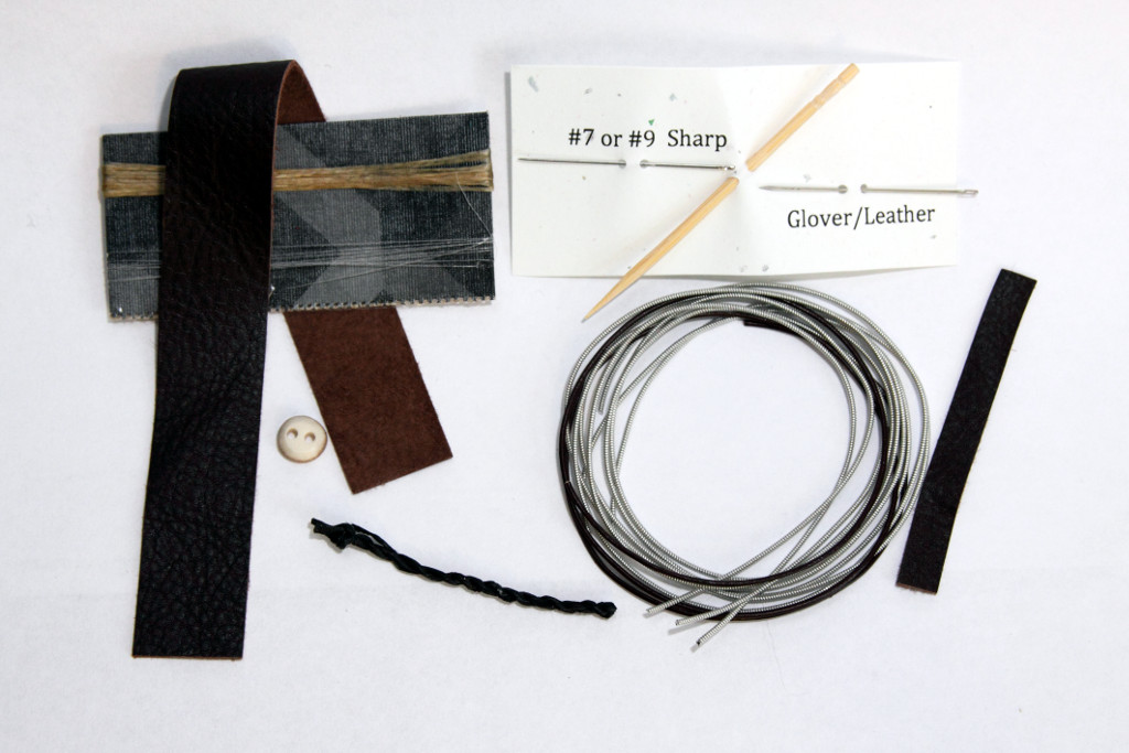 parts for tin and leather sami bracelet kit
